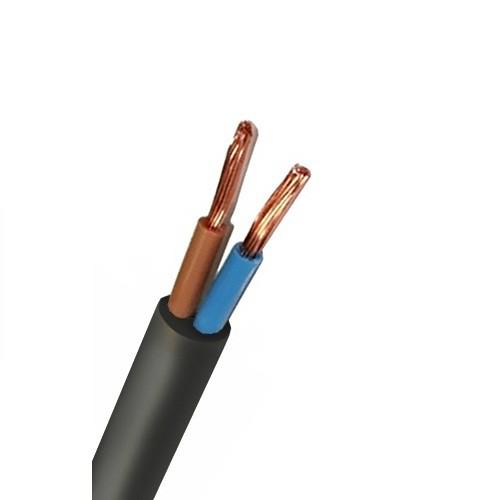 Кабель ПВС 2х1,5 Чорний (Катех/Інтерелектро) провід гнучкий