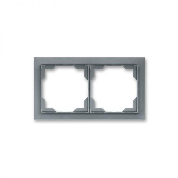 Рамка NEO 2-а біла/сірий лід