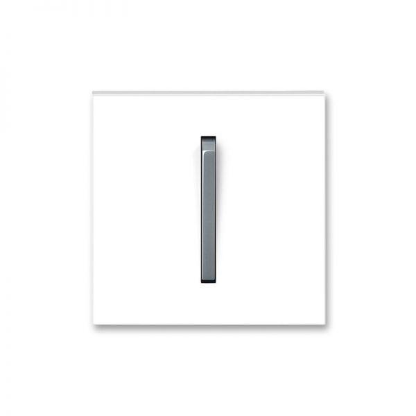 Клавіша NEO 1-кл. вимикача біла/сірий лід