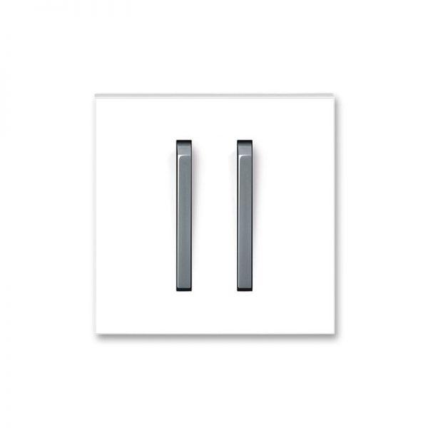 Клавіша NEO 2-кл. вимикача біла/сірий лід