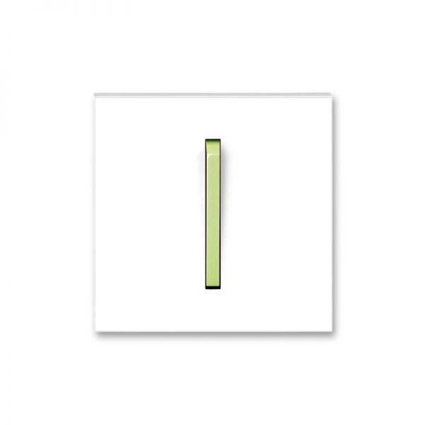 Клавіша NEO 1-кл. вимикача біла/зел. лід