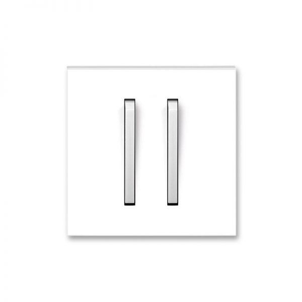 Клавіша NEO 2-кл. вимикача біла/біл. лід