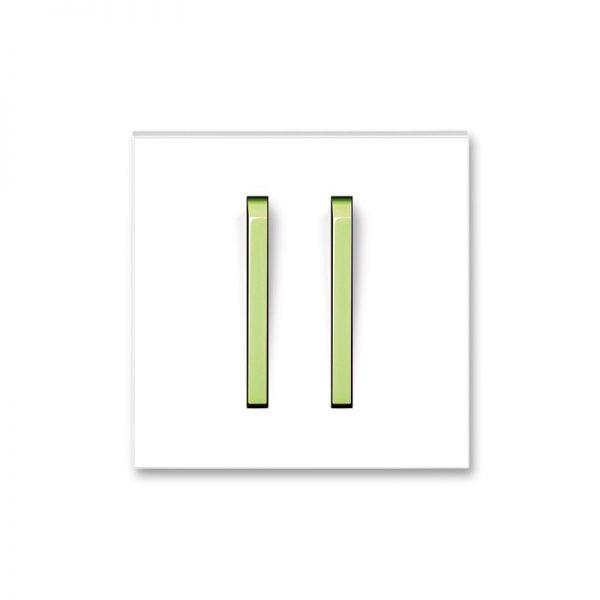 Клавіша NEO 2-кл. вимикача біла/зел. лід