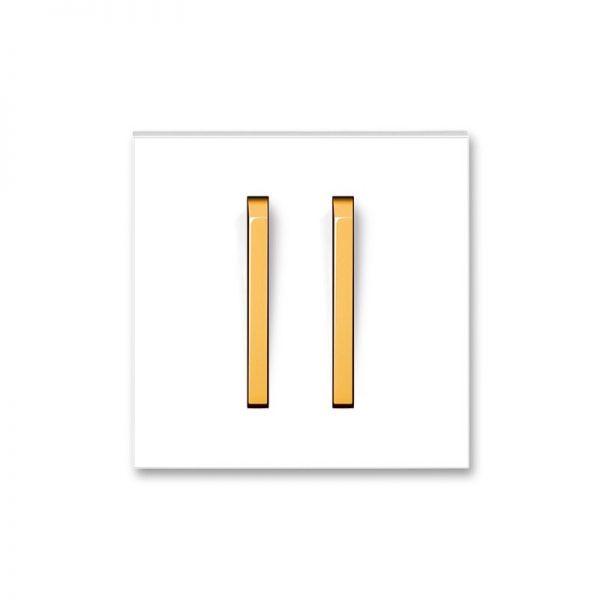 Клавіша NEO 2-кл. вимикача біла/оранж. лід