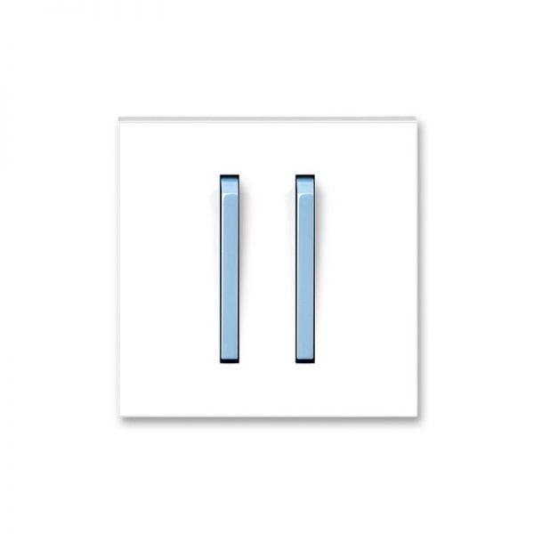 Клавіша NEO 2-кл. вимикача біла/син. лід