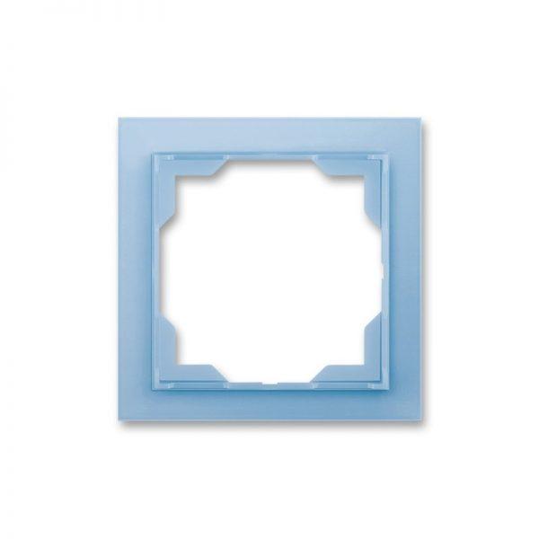 Рамка NEO 1-а біла/син. лід