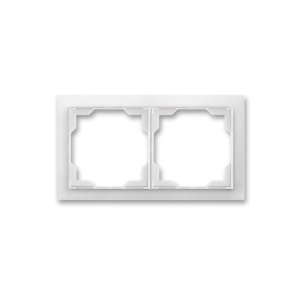 Рамка NEO 2-а біла/біл. лід