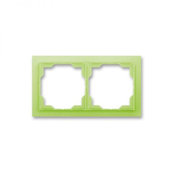 Рамка NEO 2-а біла/зел. лід