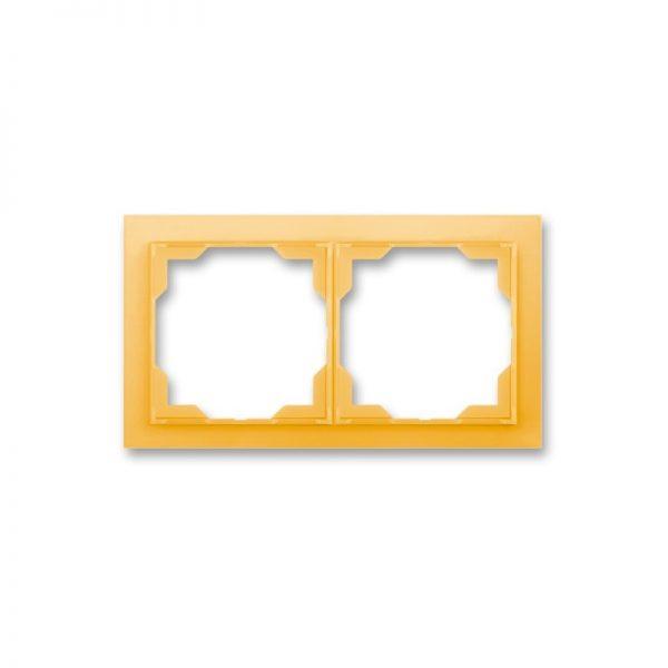 Рамка NEO 2-а біла/оранж. лід