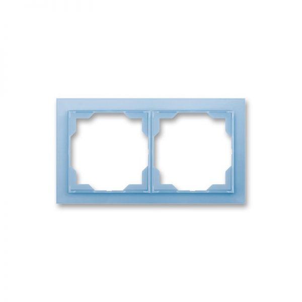 Рамка NEO 2-а біла/син. лід