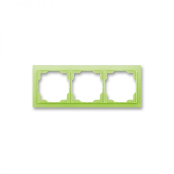Рамка NEO 3-а біла/зел. лід