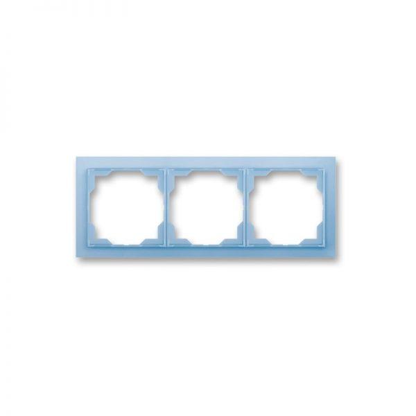 Рамка NEO 3-а біла/син. лід