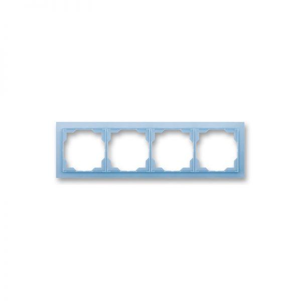 Рамка NEO 4-а біла/син. лід