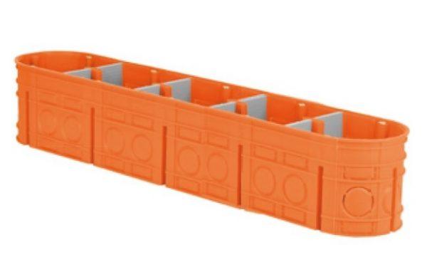 Коробка устан.5-х містна поліпропілен 650°С самозатух д/бетон глибока з шуруп MULTIWALL SIMET