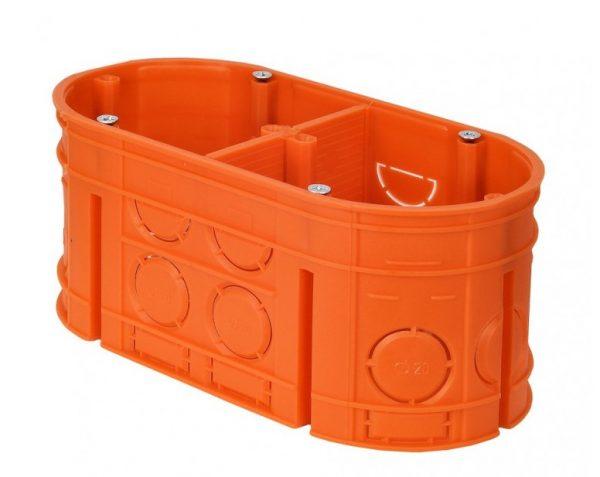 Коробка устан.2-х містна поліпропілен 650°С самозатух д/бетон глибока з шуруп MULTIWALL SIMET