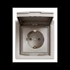 Розетка ASFORA 1-а з з/з, з кришкою, бронза