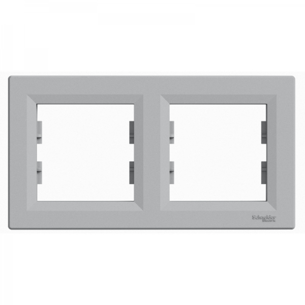 Рамка ASFORA 2-а горизонтальна алюміній