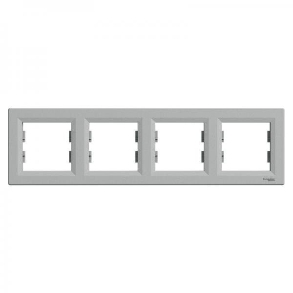 Рамка ASFORA 4-а горизонтальна алюміній