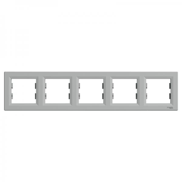 Рамка ASFORA 5-а горизонтальна алюміній