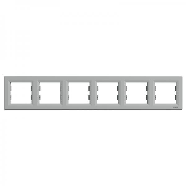 Рамка ASFORA 6-а горизонтальна алюміній