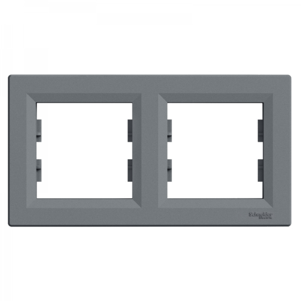 Рамка ASFORA 2-а горизонтальна сталь