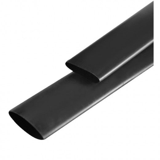 Трубка термозбіжна 40.0мм/1метр Delux чорна