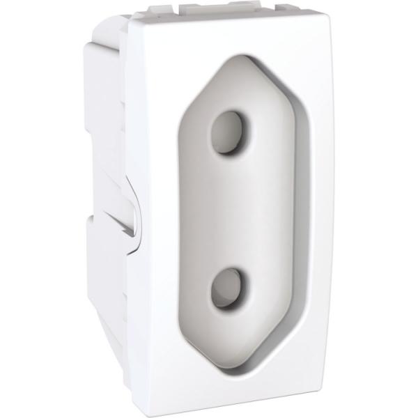 Розетка Unica 1-на біла плоска без з/з (1м)