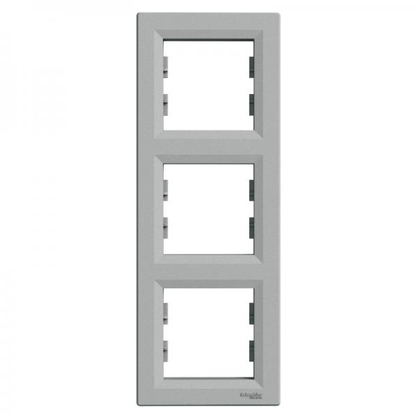 Рамка ASFORA 3-а вертикальна алюміній