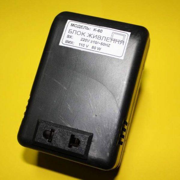 Перетворювач напруги з 220В на 110В 80 V·A