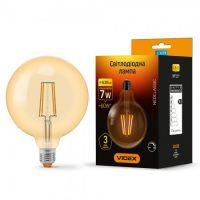 LED лампа Filament G125FAD 7W E27 2200K 220V бронза димерна