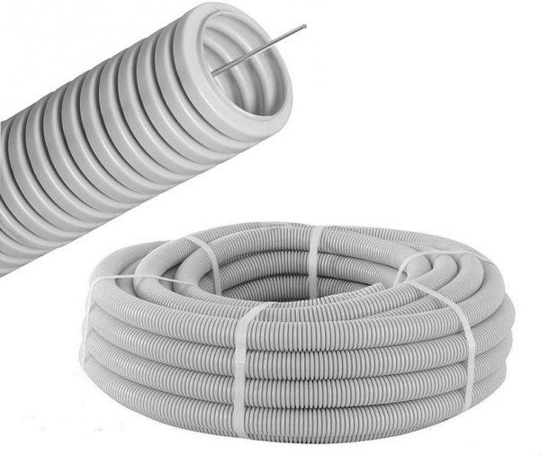 Гофротруба ПВХ діаметр 32мм.(біла) DKC
