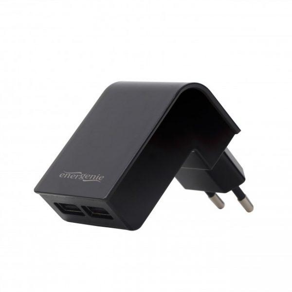 Мереж.заряд.пристрій 2USB вихід 5V/2.1A чорн.ТМ Energenie