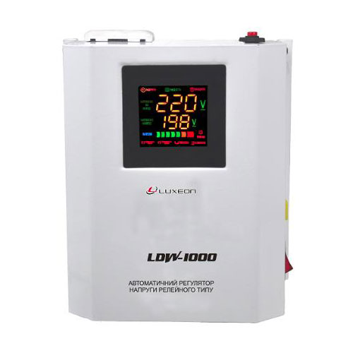 Стабілізатор напруги LDW1000 пот.1КВА (Білий)