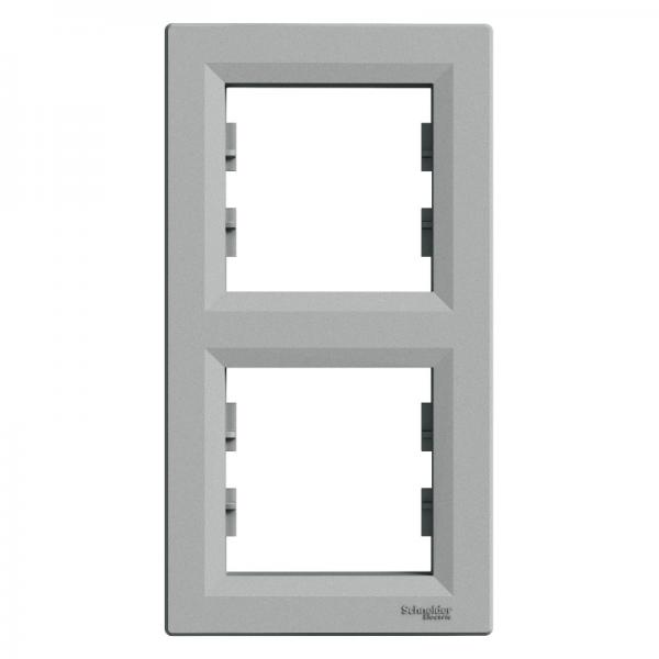 Рамка ASFORA 2-а вертикальна алюміній