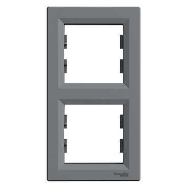 Рамка ASFORA 2-а вертикальна сталь