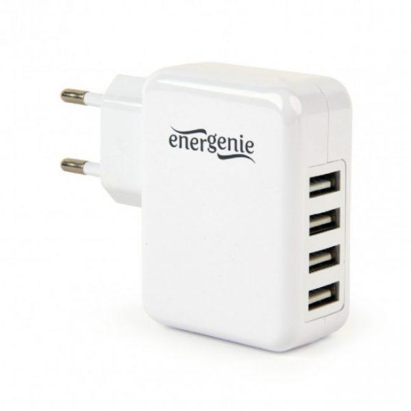 Мереж.заряд.пристрій 4USB вихід 5V/3.1A ТМ Energenie