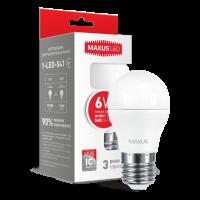 Лампа 1-LED-541 G45 F 6W 3000K 220V E27