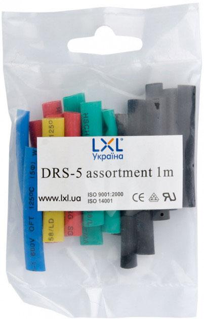 Трубка термозбіжна 5.0мм / 20*5см DRS-5 LXL різнобарвна