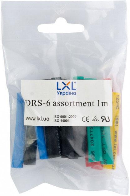 Трубка термозбіжна 6.0мм / 20*5см DRS-6 LXL різнобарвна