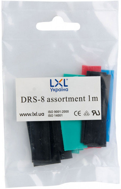 Трубка термозбіжна 8.0мм / 20*5см DRS-8 LXL різнобарвна