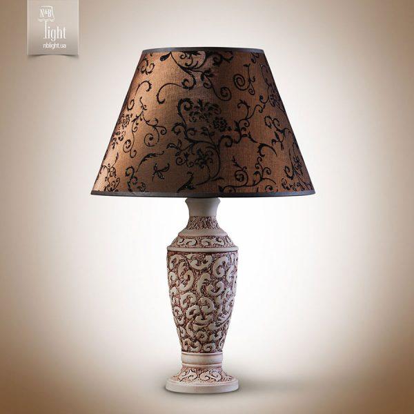 """10500 Наст.лампа """"АФІНА"""" (1 л.) сіркор/мід/патина.,кор."""