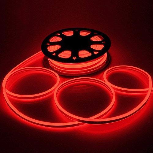 Led NEON червоний 120B2835-220V-7W/m 5mm IP65(неолед)