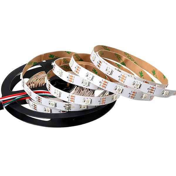 Стрічка св.діод. цифрова(5050)RGB IP33 (5см=3діоди)14,4Вт/м 12V ціна за 1метр