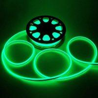 Led NEON зелений 120B2835-220V-7W/m 5mm IP65(неолед)