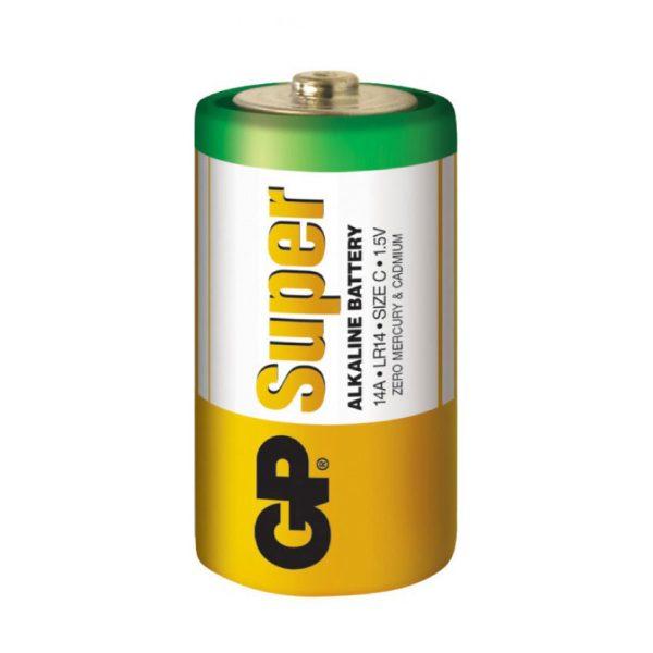 Батарейка GP R14 C SuperAlcaline 14A-S2 (2/20/200) плівка