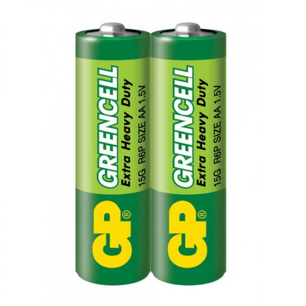 Бат.GP АА сольова 15G S2 (2/200/1000) Greencell