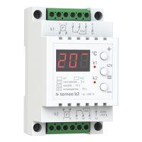 Терморег. ДІН 2×16А -9…+99*C Terneo k2 2-канальний