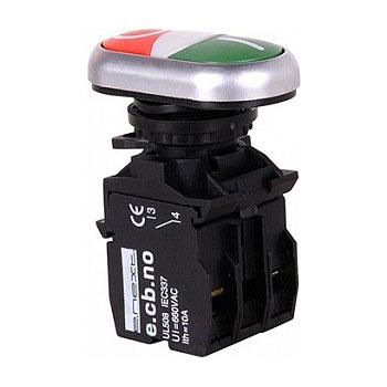 Кнопка пуск-стоп зелений-червон. e.pb.la.stand.32.nhd.11.