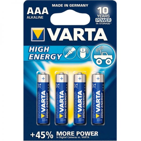 Батарейка AAA High Energy/Power Bli4 Alcaline VARTA
