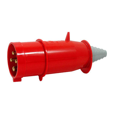 Силова вилка перен. 3P+N+Z 400В 16А IP44